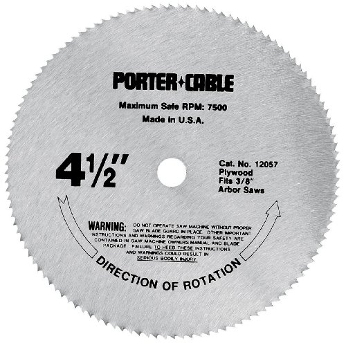 PORTER-CABLE 4-1/2-Inch Circular Saw Blade, Plywood Cutting, 120-Tooth (12057)